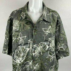 Panama Jack Hawaiian Mens 3XL Green Flower